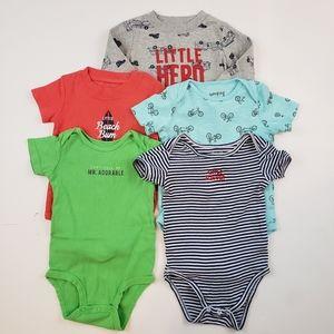 Baby Boy's Bodysuit Mixed Lot of 5 18M